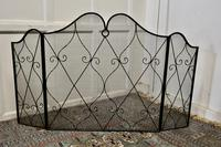 Large Folding Wrought Iron Fire Guard for Inglenook Fireplace