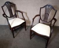 Set of Eight '6+2' Mahogany Dining Chairs in the Hepplewhite Style (4 of 15)