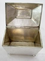 Georgian Style Sarcophagus Shaped Silver Tea Caddy (2 of 5)