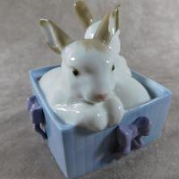 """Conejitos De Regalo"" or ""Bunny Suprise"" Hand Modelled Figurine by Nao (6 of 8)"