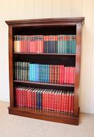 Late 19th Century Mahogany Open Bookcase c.1890 (5 of 11)