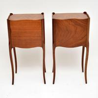 Pair of Antique French Inlaid Marquetry Bedside Tables (6 of 10)