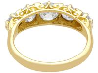 3.31ct Diamond & 18ct Yellow Gold Five Stone Ring c.1930 (4 of 9)