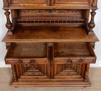 Large German Carved Walnut Bookcase Cabinet 19th Century (13 of 14)
