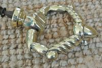 Fine Early 19th Century Brass Door Knocker Acorn in Hand Regency Period (3 of 9)