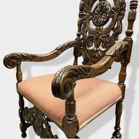 17th Century High Back Armchair (6 of 14)