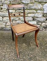 Set of 4 Regency Rosewood Sabre Leg Dining Chairs (10 of 15)