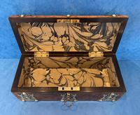Victorian Brassbound Burr Walnut Glove Box (9 of 9)