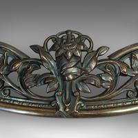 Antique Fire Kerb, French, Cast Iron, Fireside Surround c.1920 (2 of 12)