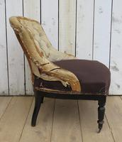 Antique French Button Back Tub Chair (5 of 8)