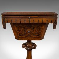 Antique Lady's Work Box, English, Rosewood, Sewing, Table, Regency c.1820 (2 of 12)