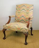 Fine Quality Georgian Style Mahogany Gainsborough Chair c.1920 (6 of 10)
