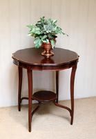 Inlaid Mahogany Circular Table (9 of 12)