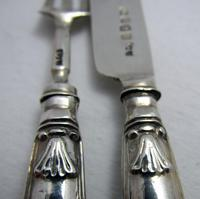 Unusual Miniature Toy Georgian 1834 Solid Sterling Silver Christening / Childs Pair of Knife & Fork Set. English Kings Pattern (6 of 10)