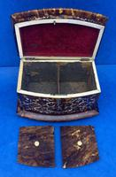 Victorian Tortoiseshell Tea Caddy with Mother of Pearl Inlay (8 of 20)
