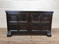 Antique Rare 17th Century Oak Coffer with Block Paw Feet (M-716) (13 of 16)