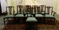 Set of 10 Mahogany Dining Chairs (2 of 8)
