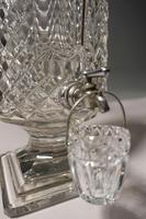 An Extremely Rare Late 19th Century Lead Crystal Cut Glass Whiskey Dispenser (6 of 6)