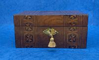 Victorian Mahogany Box with Tunbridge Ware Bands (12 of 15)