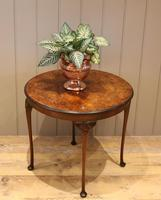 Low Circular Walnut Table (4 of 9)