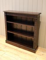 Dark Oak Open Bookcase (10 of 11)