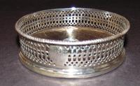 Solid Silver Wine Coaster 1841 (2 of 5)