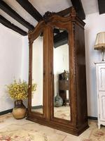 Antique French Armoire Wardrobe Linen Cupboard