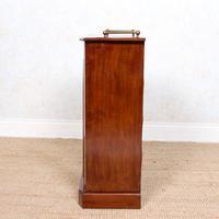 Music Cabinet Glazed Inlaid Walnut Bookcase 19th Century (4 of 10)