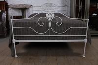 Pretty King Size Forged Iron Bed