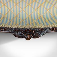 Antique Spoon Back Sofa, English, Walnut, 2 Seat Settee, Early Victorian, 1840 (5 of 12)
