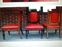 Six Beautiful 'one needs slight repair' Red Leather High Back Chairs - Boardroom / Council Office (6 of 6)