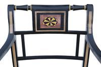 Regency Ebonised Elbow / Carver / Desk Chair (4 of 6)