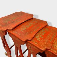 Crutsy Nest of 4 Chinese Red Lacquered Tables (10 of 13)