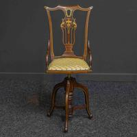 Edwardian Ladies Mahogany Revolving Chair