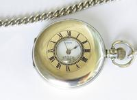 Antique Denco Silver Hunter Pocket Watch, Military History (2 of 7)