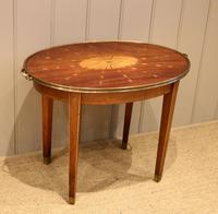 Low Inlaid Oval Table (2 of 9)