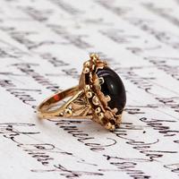 The Vintage Ornate Set Cabochon Ring (4 of 6)
