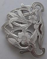 Arts and Crafts Style 1903 Hallmarked Solid Silver Nurses Belt Buckle Edwardian (8 of 8)