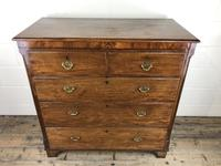 Antique 19th Century Oak & Mahogany Chest of Drawers (11 of 12)