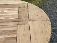 Large Round French Bleached Oak Farmhouse Table with Extensions (17 of 38)