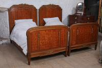 Handsome Pair of Parquetry Large Single Beds (10 of 10)