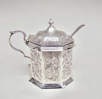 Victorian Silver  Mustard Pot by Hilliard & Thomason, Birmingham 1884 (3 of 8)