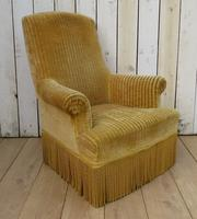 Antique French Tub Armchair for re-upholstery (8 of 8)