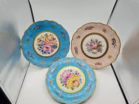 Vintage German Porcelain Plates / Chargers Bavarian /Set of Three (3 of 32)