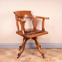 Oak Revolving Office Desk Chair (5 of 10)