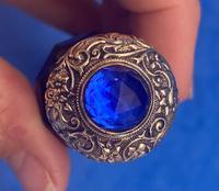 Victorian Bristol Blue Perfume Bottle (2 of 17)