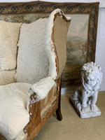 Large Wingback Armchair for Recovering (4 of 10)