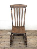 Antique Ash & Elm Rocking Chair (2 of 7)
