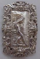 Rare Edwardian Shakespeare 1904 Hallmarked Solid Silver Nurses Belt Buckle (3 of 10)