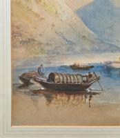 Large Lake in Italy - Beautiful 1930s Watercolour Landscape Painting (4 of 9)